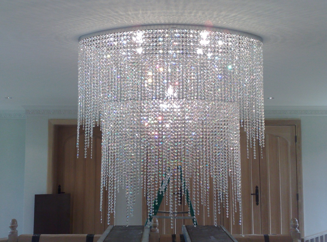 BESPOKE DIRECT CEILING FIXED OVAL CHANDELIER