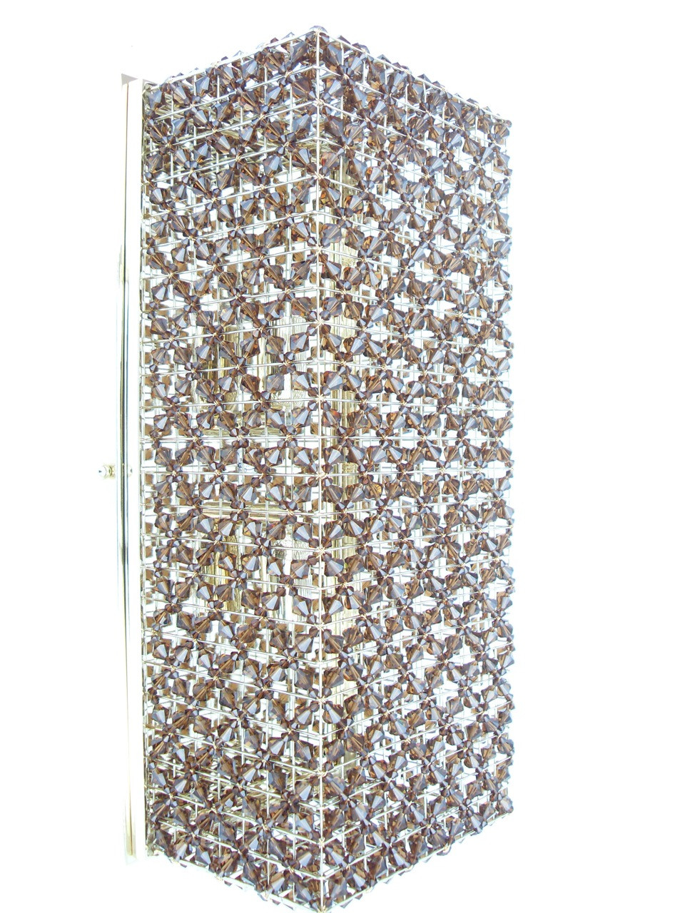 Smoke Crystal Wall Lights : SMOKED TOPAZ BEADED CRYSTAL WALL LIGHT - WALL LIGHTS - LIGHTING