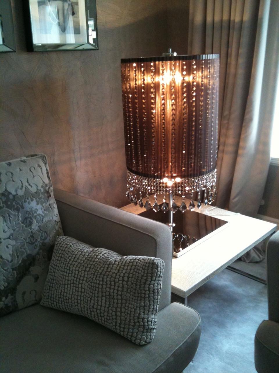 CIRCULAR CARAMEL FLOOR LAMP