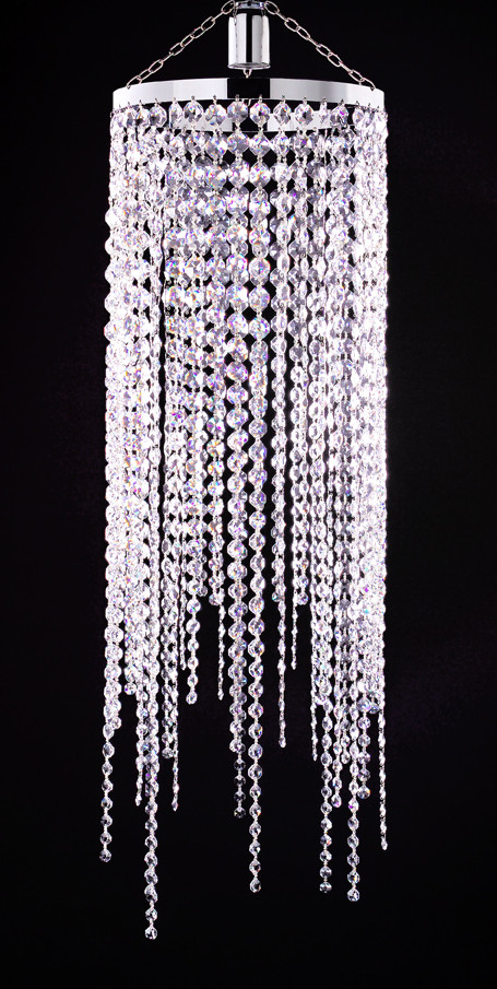 CLEAR CRYSTAL CIRCULAR CHANDELIER
