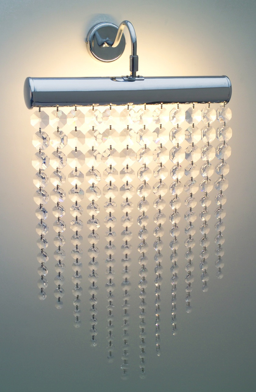 Battery Operated Crystal Wall Sconces : CLEAR CRYSTAL WALL LIGHT - WALL LIGHTS - LIGHTING