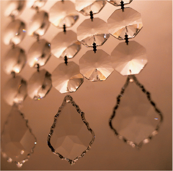 OCTAGONAL FACETED CRYSTAL CURTAIN