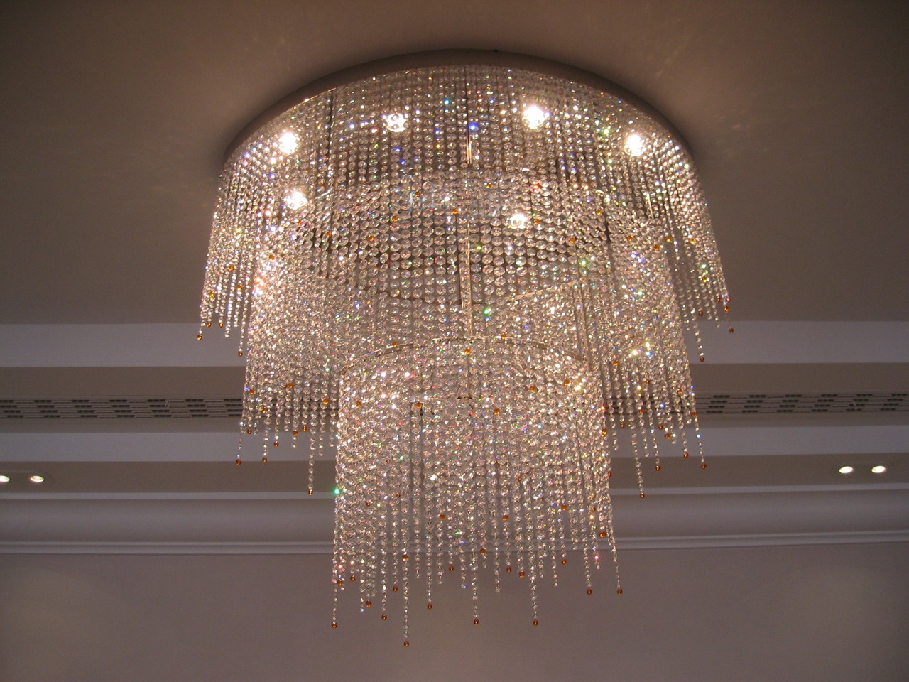 BESPOKE TRIPLE TIER OVAL CHANDELIER