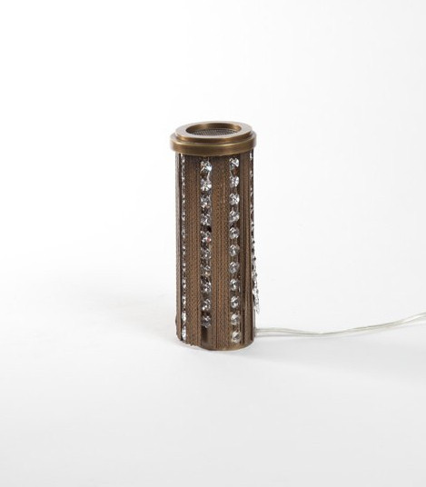 HALO TABLE LAMP IN ANTIQUE BRONZE FINISH
