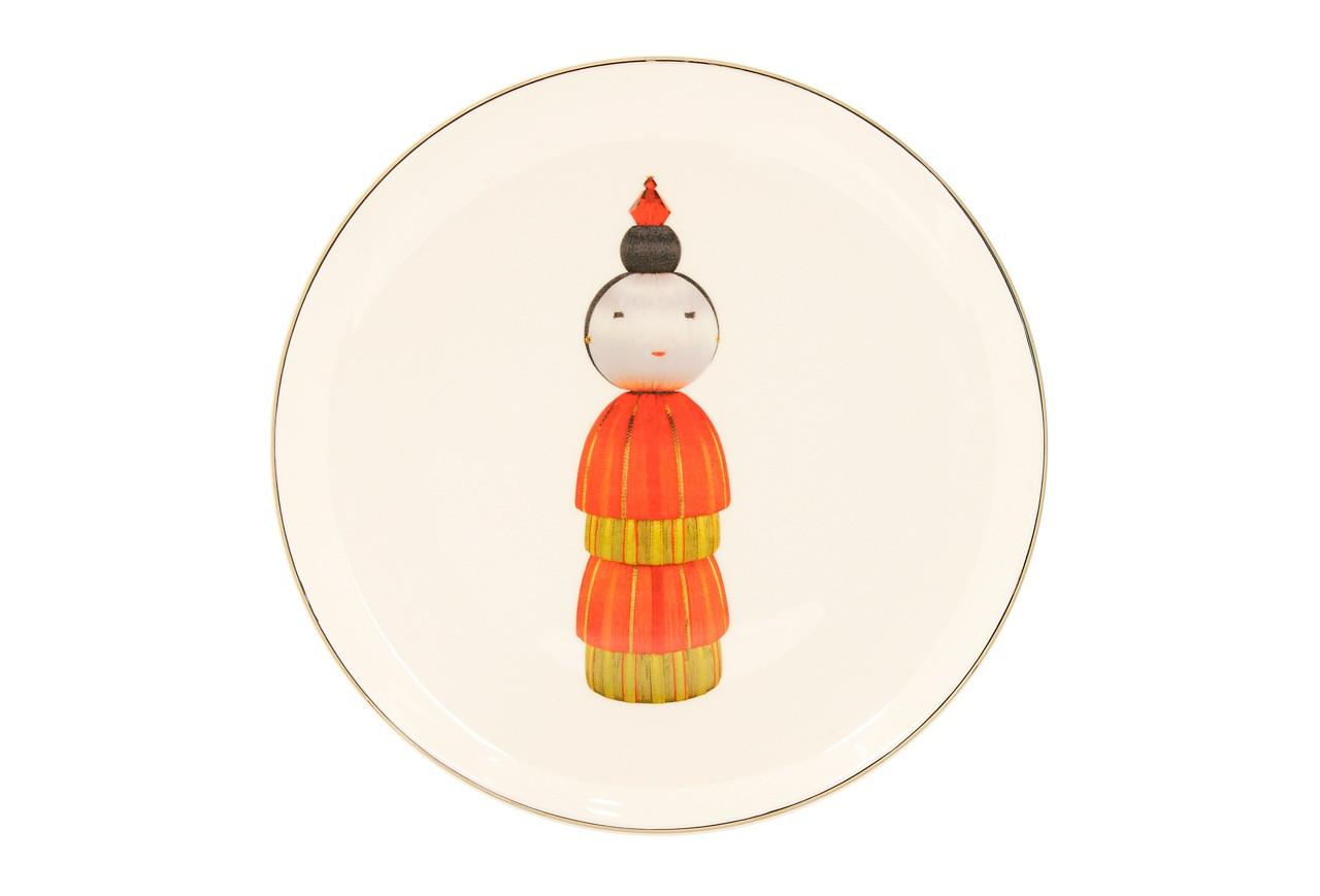 KOKESHI EMPRESS DESSERT/SIDE PLATE