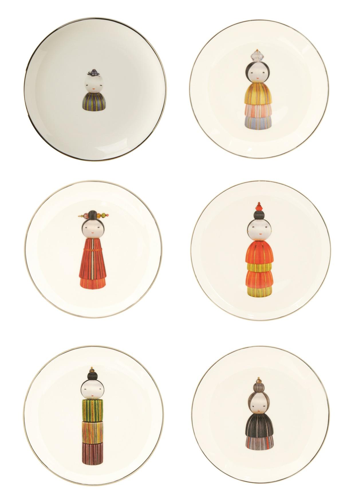 KOKESHI DINNER PLATE SET