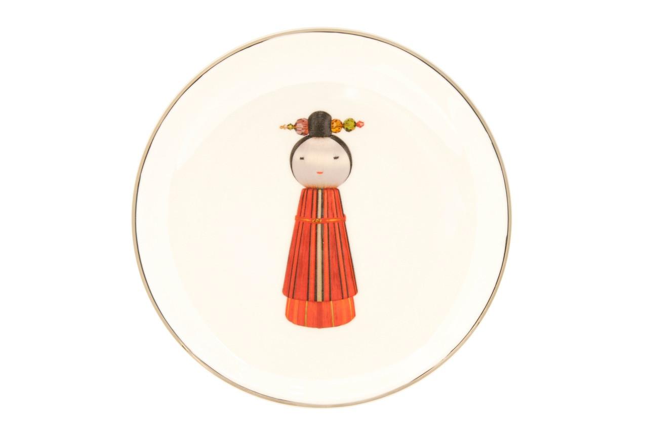 KOKESHI GEISHA DESSERT/SIDE PLATE