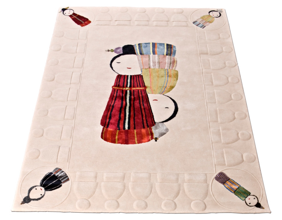 KOKESHI HAND-TUFTED SILK AND WOOL RUG