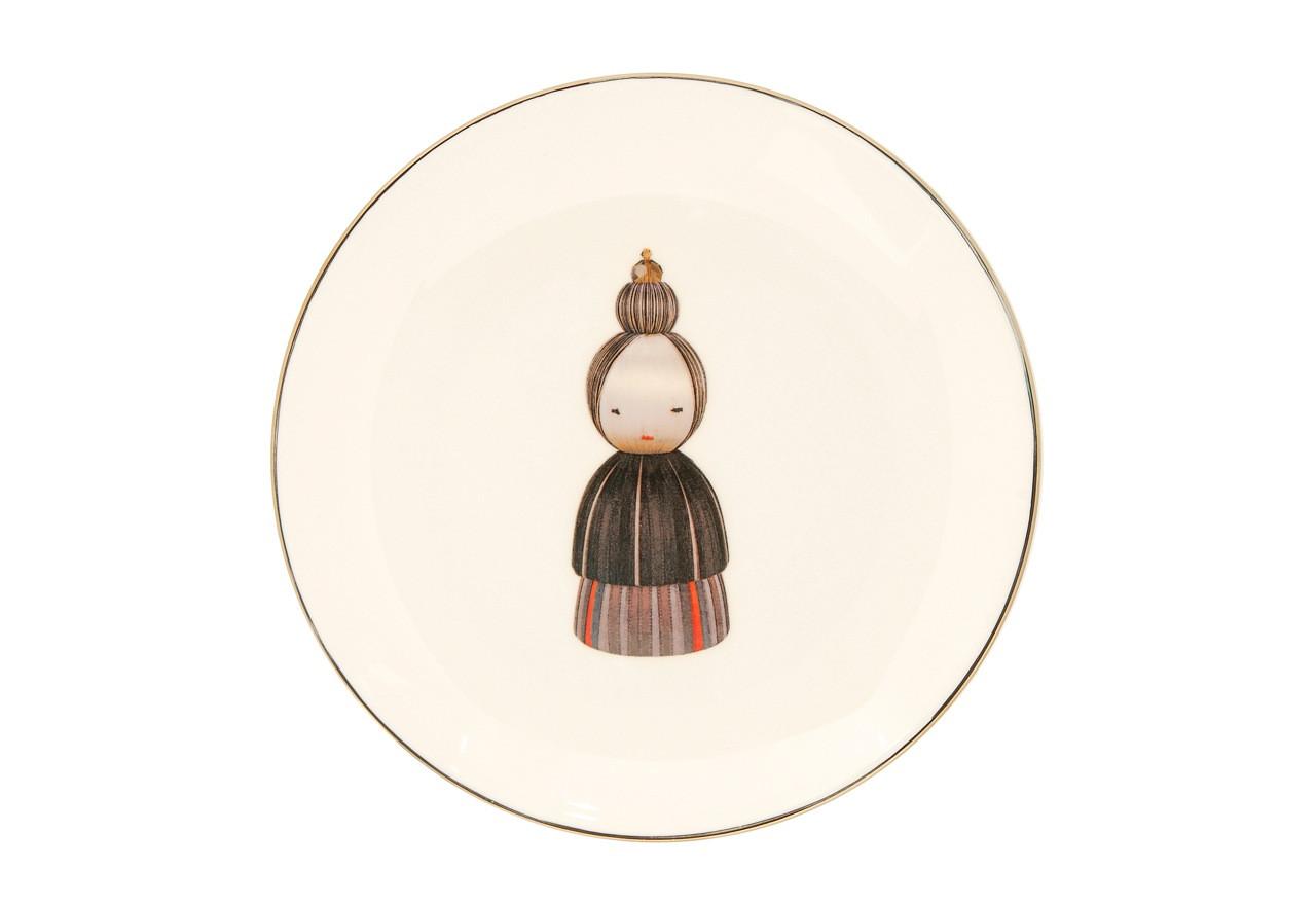 KOKESHI NONNA DESSERT/SIDE PLATE