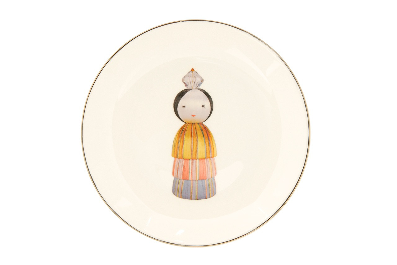 KOKESHI PRINCESS DESSERT/SIDE PLATE