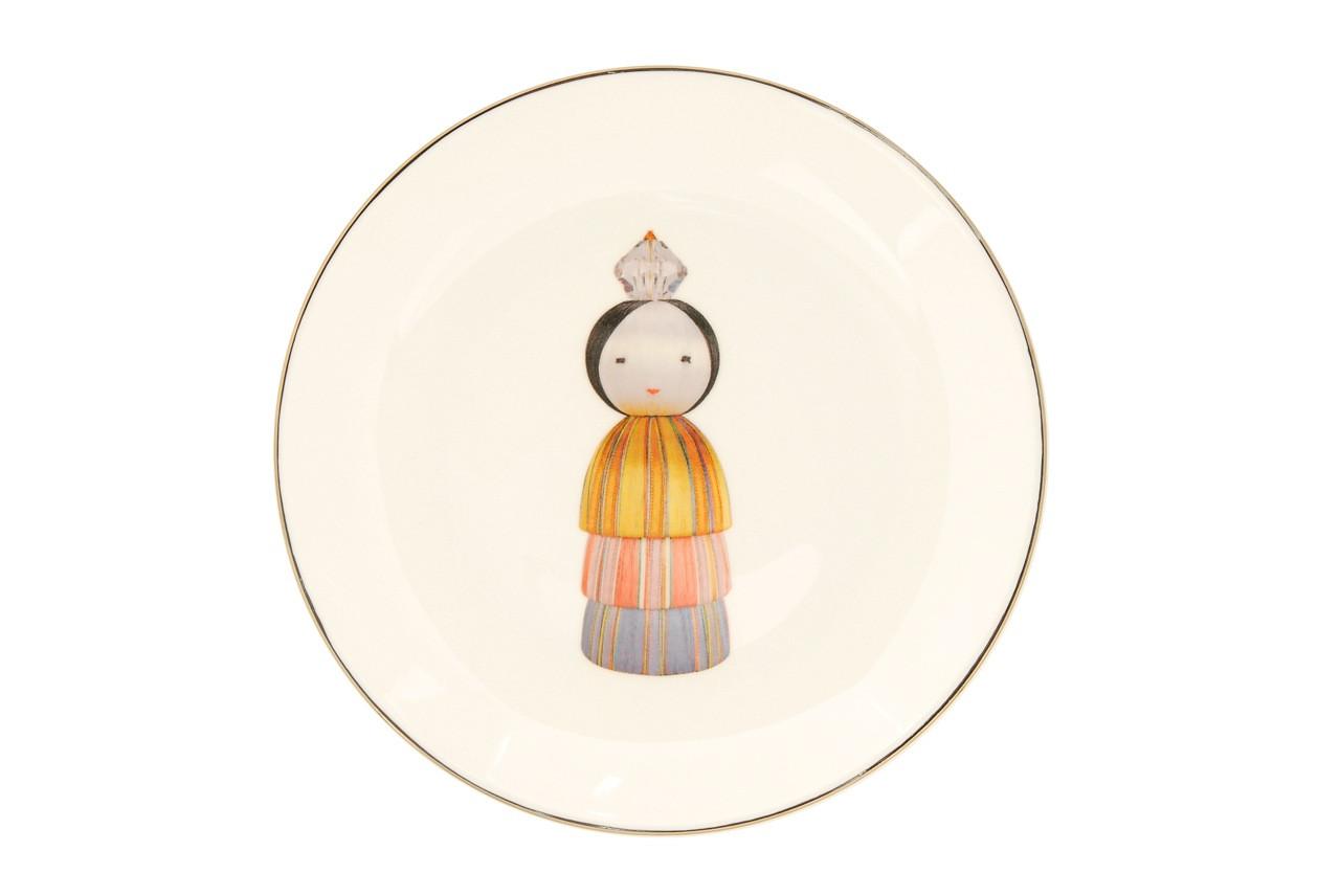 KOKESHI PRINCESS DINNER PLATE