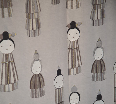 KOKESHI SILK JACQUARD IN KOKESHI FOREST DESIGN
