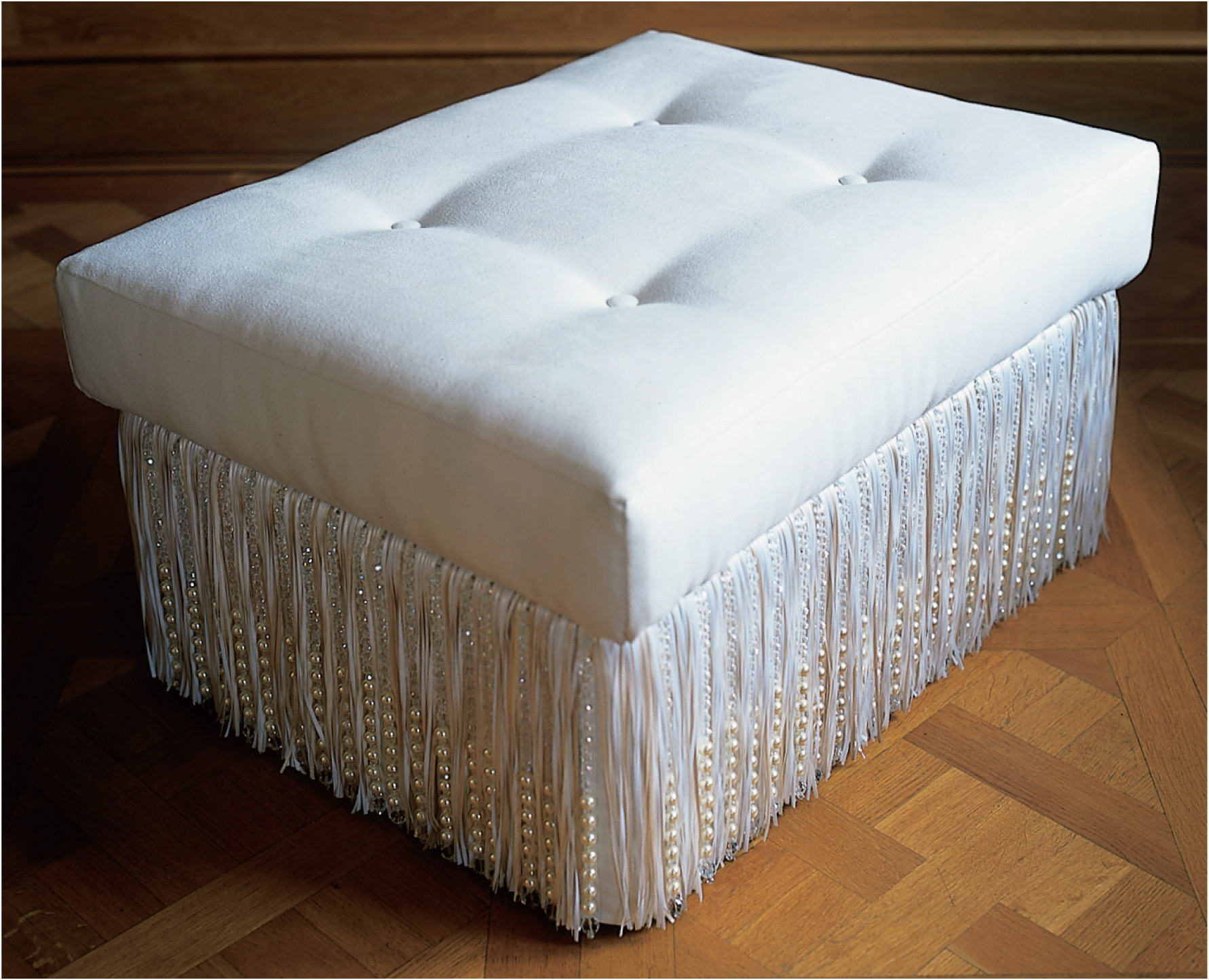 PEARL AND CRYSTAL FOOTSTOOL