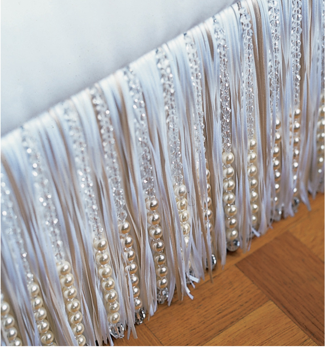 PEARL AND CRYSTAL RIBBON FRINGE