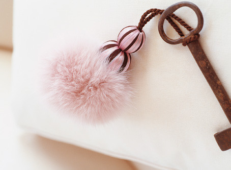 POWDER PUFF KEY TASSEL