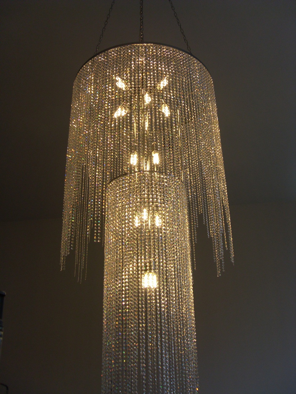 BESPOKE DOUBLE TIER CIRCULAR CHANDELIER