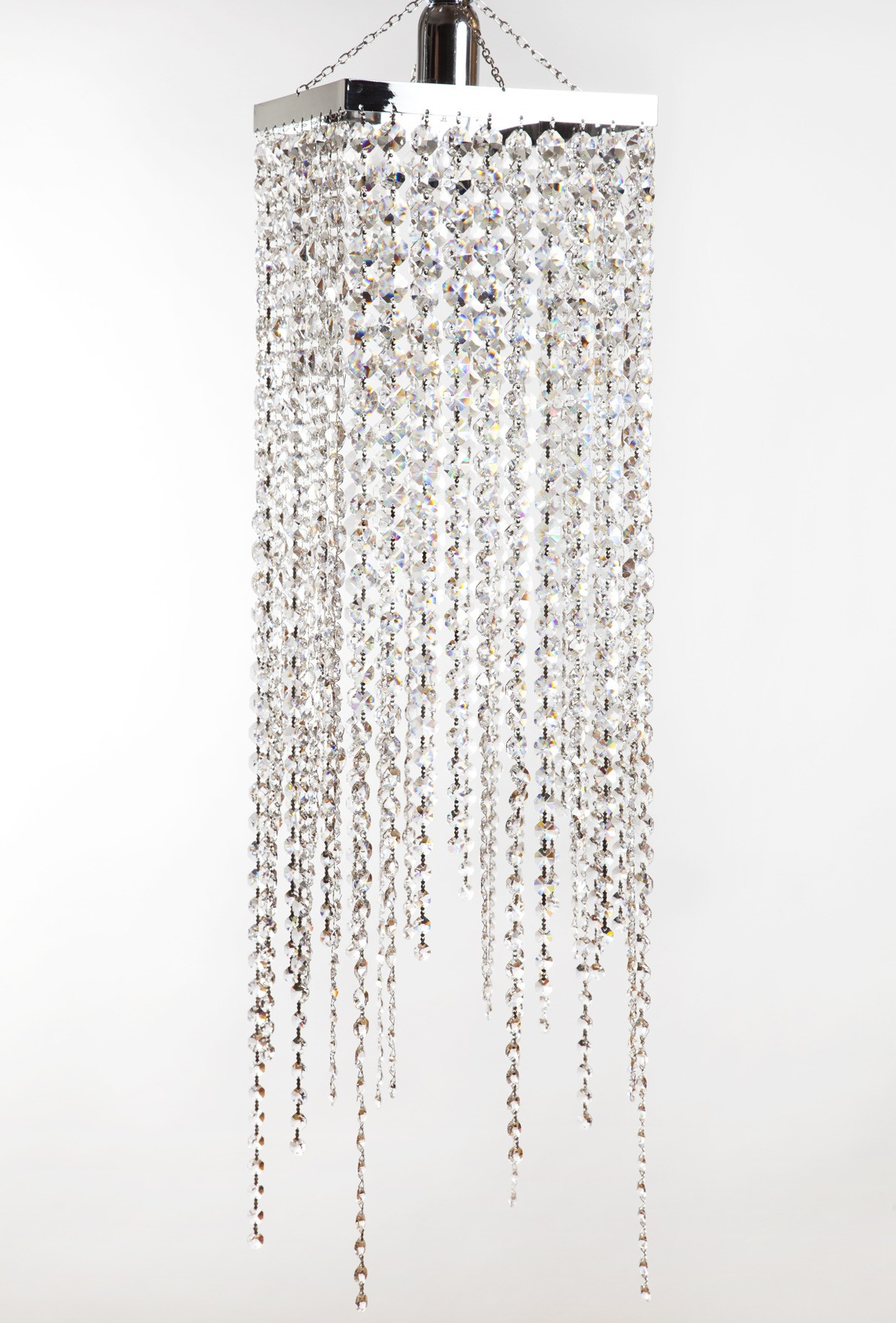 CLEAR CRYSTAL SQUARE CHANDELIER
