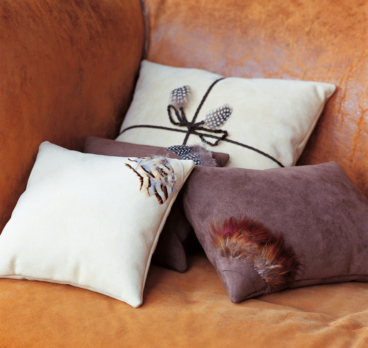 FEATHER PARCEL STYLE CUSHION